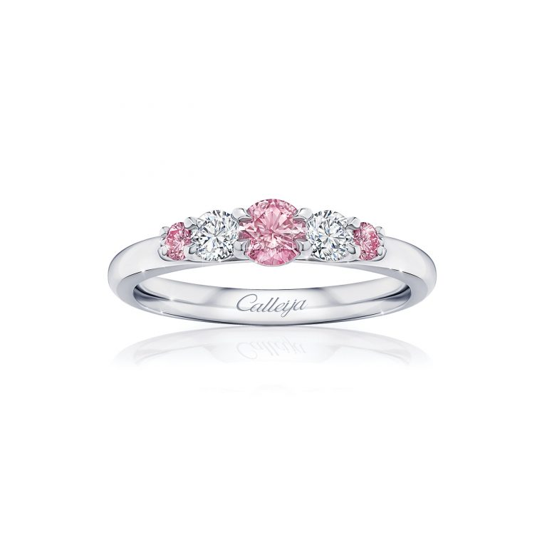 Argyle Pink Diamond and White Diamond Ring