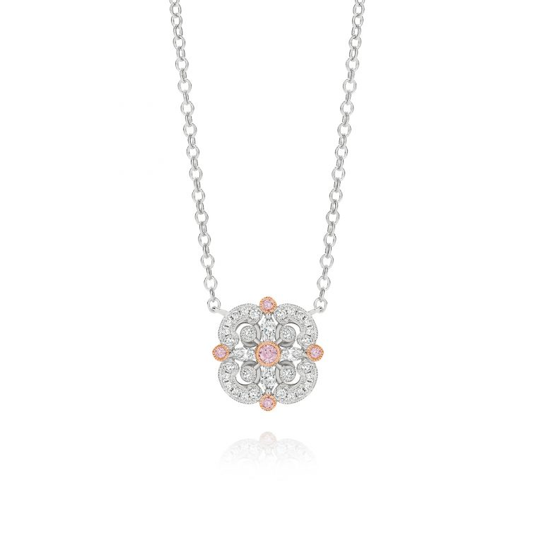 Faith Pink and White Diamond Pendant