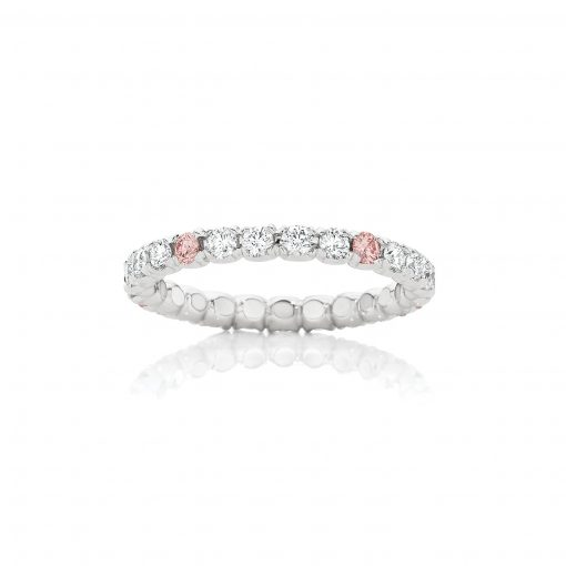 Full Circle White and Argyle Pink Diamond Ring