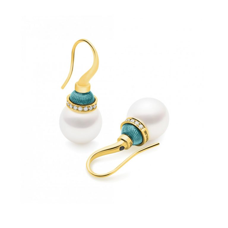 Kailis Aurora Green Lucernae Pearl Earrings