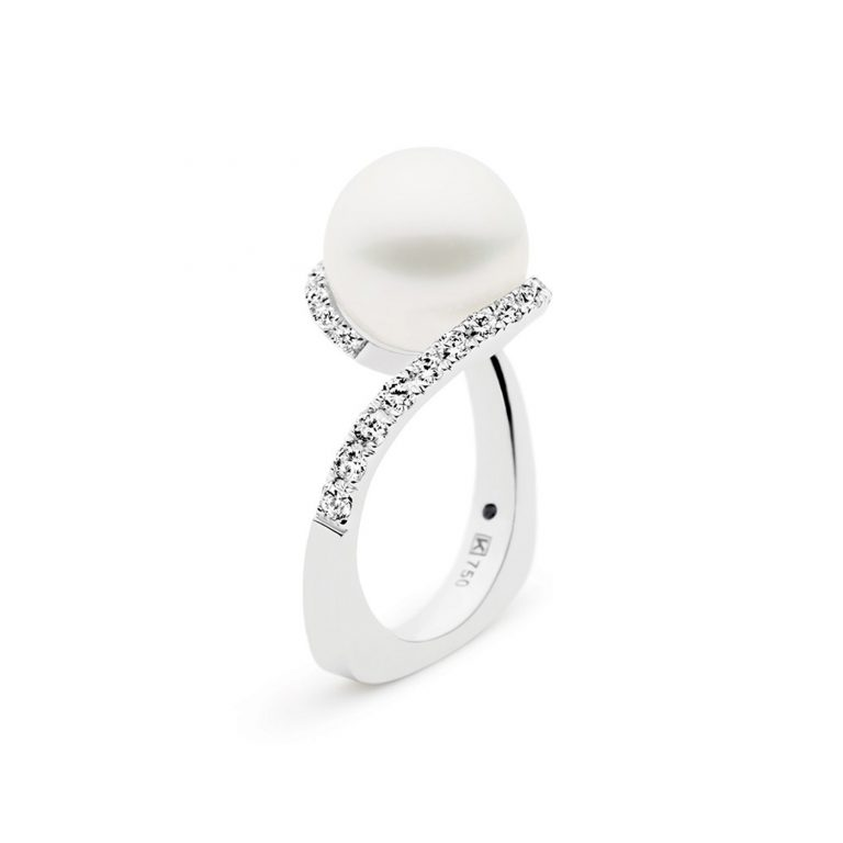 Kailis Pearl and White Diamond Angelic Blanc Ring