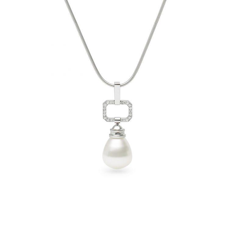 Kailis Pearl and White Diamond Decadence Pendant