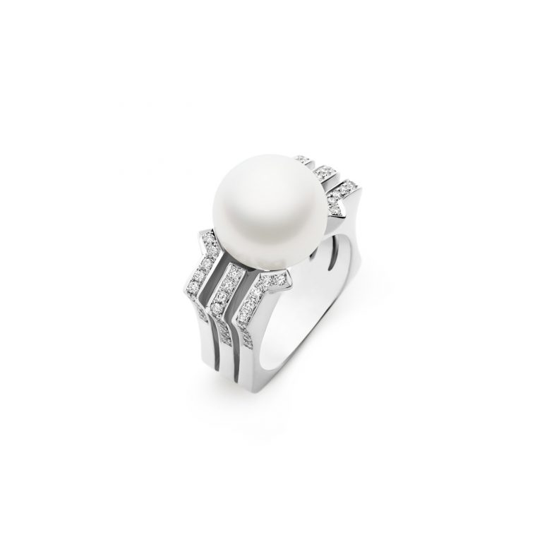 Kailis Pearl and White Diamond Metropolis Ring
