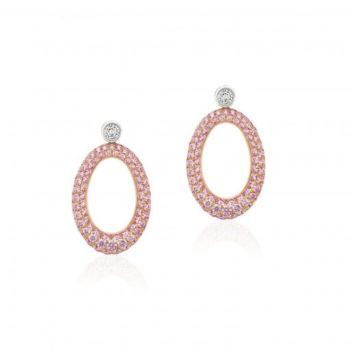 o limited edition white and argyle pink diamond earrings
