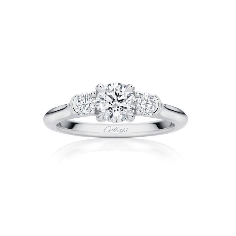 platinum trilogy white diamond ring