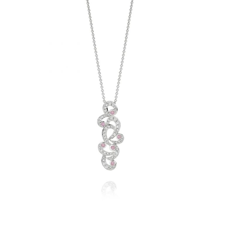 Symphony Pink and White Diamond Pendant
