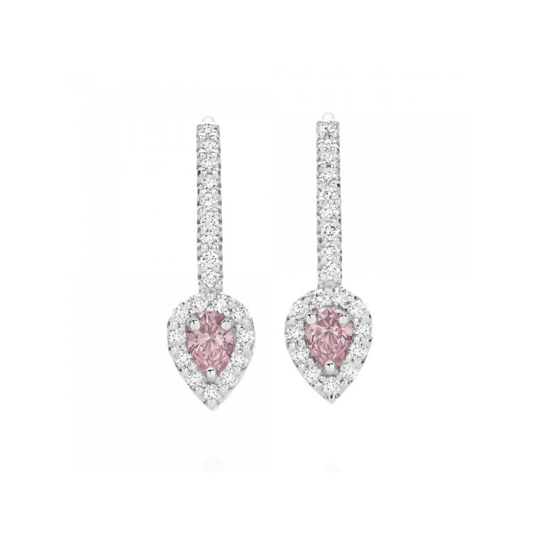 Argyle Pink Diamond Drop Earrings
