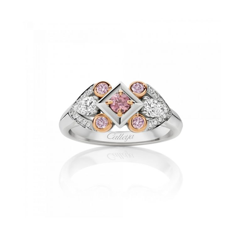 Australian Argyle Pink and White Diamond Ring