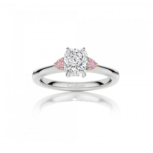 Glacier and Australian Argyle Pink Diamond Engagement Ring