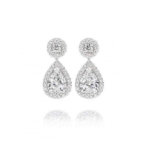 Olivia White Diamond Earrings